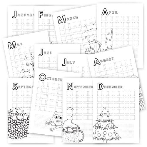 Kids File - Calendar Pages