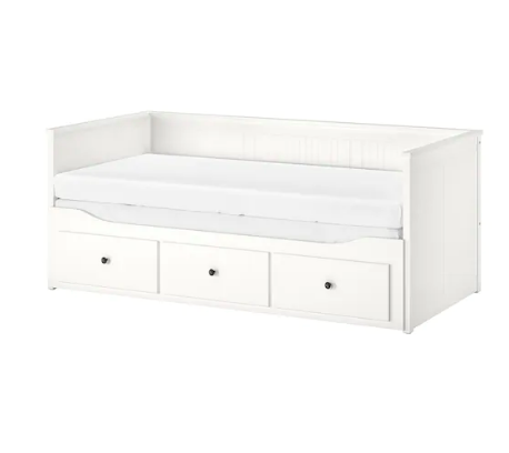 HEMNES white, Day-bed with 3 drawers, 80x200 cm - IKEA