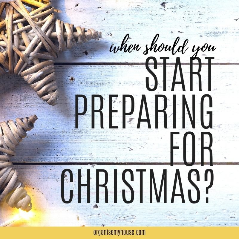 When should you start planning for Christmas?