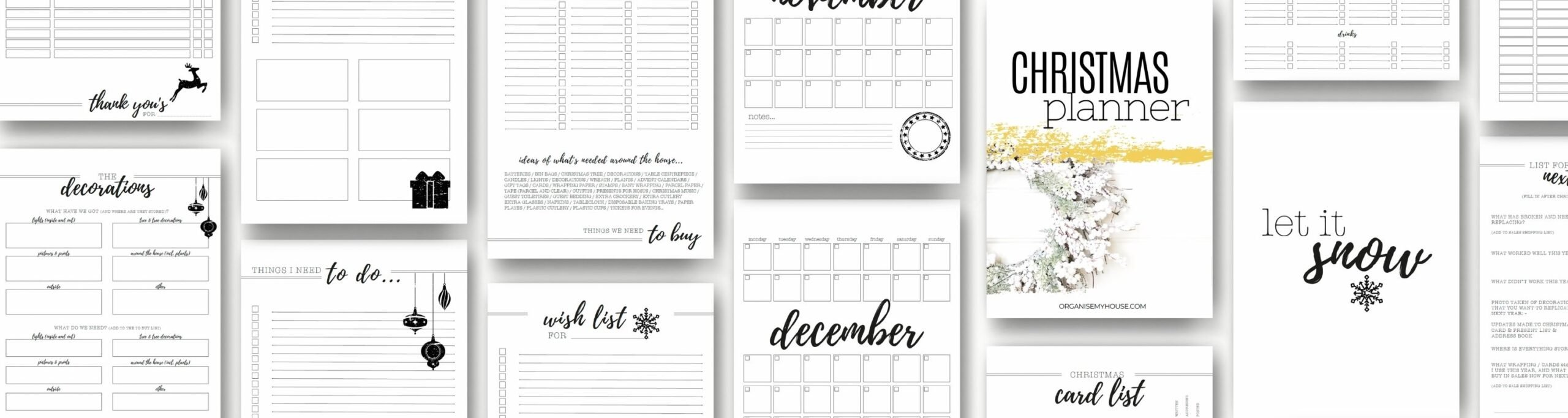 Christmas Planner Pages Long 1